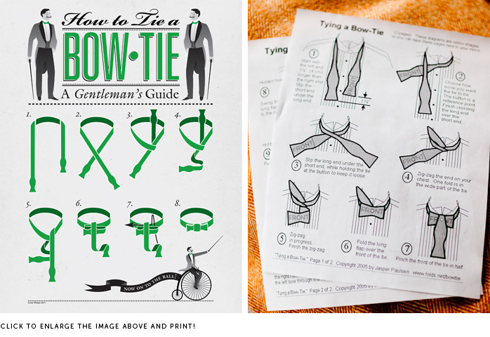 Tying A Bow Tie The Wedding Library