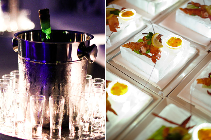 Table service at an after party? Lobster on lit icebergs for all? We want you and your guests to be surprised and delighted with our unique ideas. ++Photo: Donna Newman, James Christianson