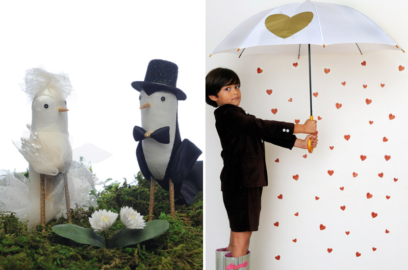 When we can't find it, we make it. Our exclusive cake toppers and umbrellas are the perfect accessory (and make for the sweetest photo opportunity). ++Photos: Eduardo Patino