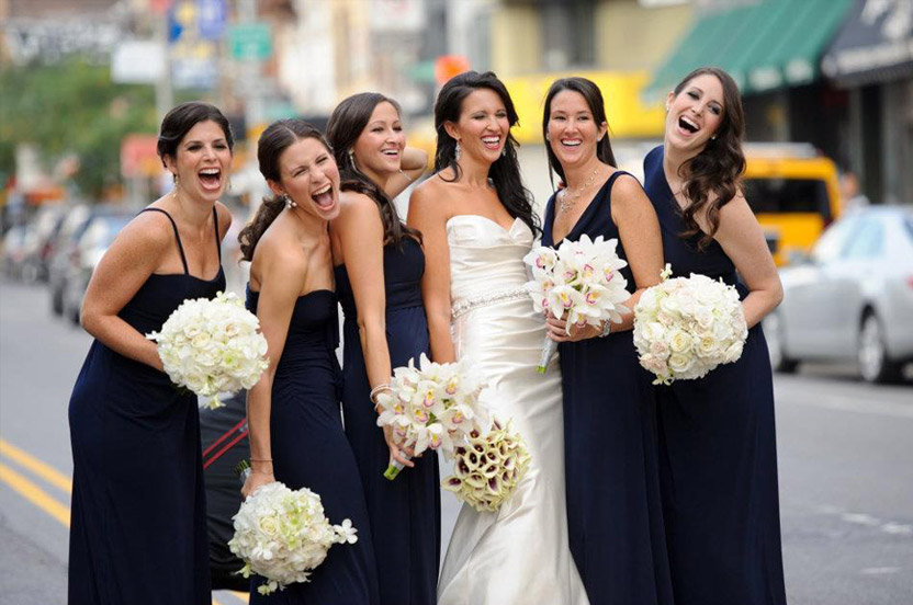 Our bridal parties hail from all over the country, and the world.  Please call or email us to learn about our simple ordering process. We ship across the United States, or dresses can be picked up at our flagship location.