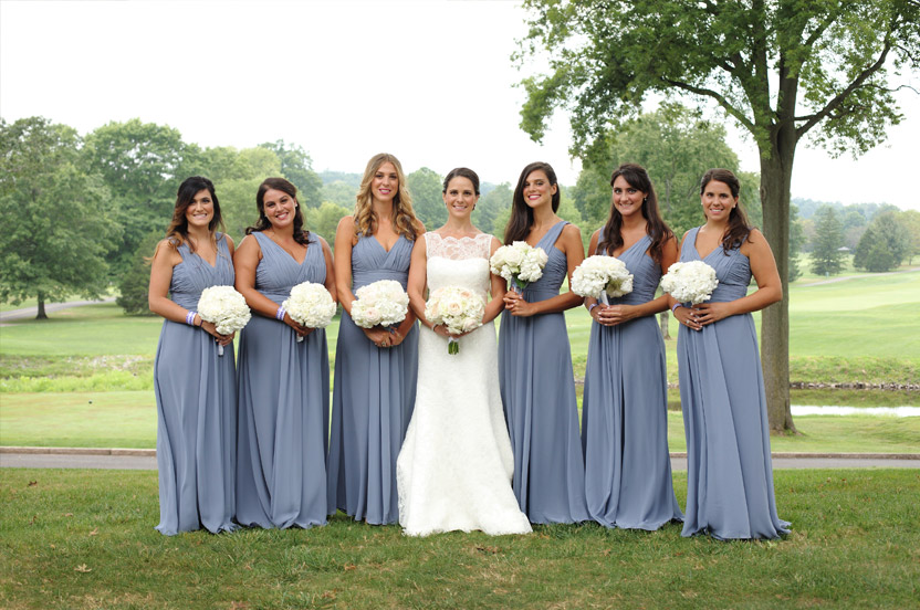 Our expert bridesmaids staff will help you pick the designer, color, style and fabric – but you must make sure to have your measurements taken by a professional tailor.