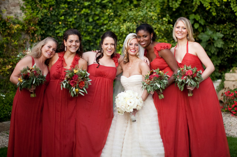 All bridesmaids' dresses approved sizing and payments must be submitted for the order to be placed. We will coordinate with the bride to ensure that we order each maid's correct style, color and size. Photos: Mel Barlow