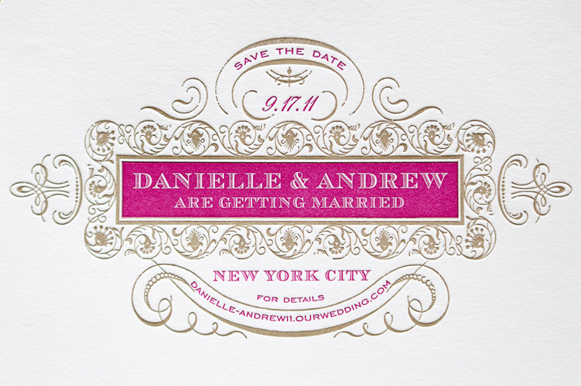 The custom stationery I designed begins to tell the story of their opulent and whimsical affair.