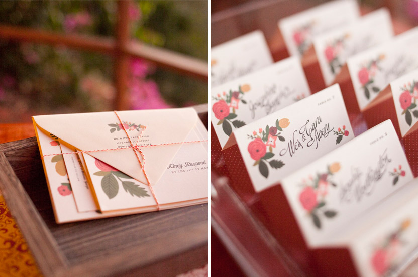 A bright invitation packet is a welcome hint at the fun to come.