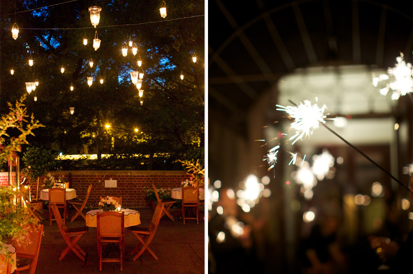 As night fell and the dancing began, our terrace became a twinkly, romantic space, magically appearing to be a part of Central Park.
