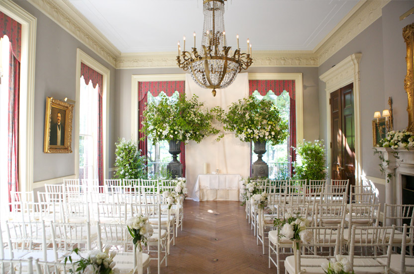 The drawing room held the ceremony.