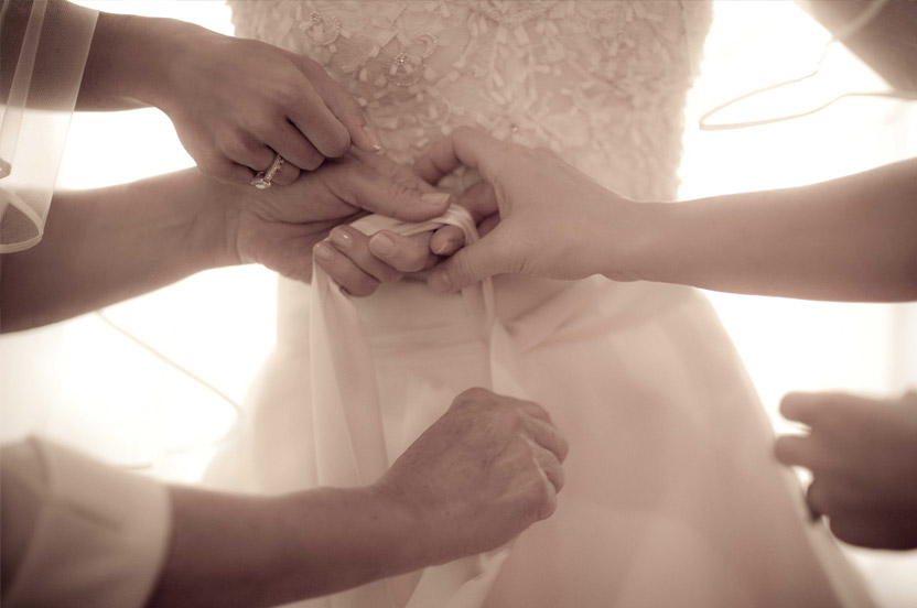 A destination wedding requires us to be well-prepared and to always be ready to lend a hand, or two.