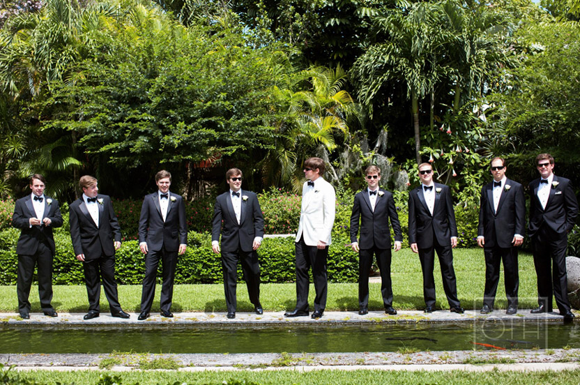 Groomsmen had fun with their portrait session, having sunglasses on hand enabled this dapper image.