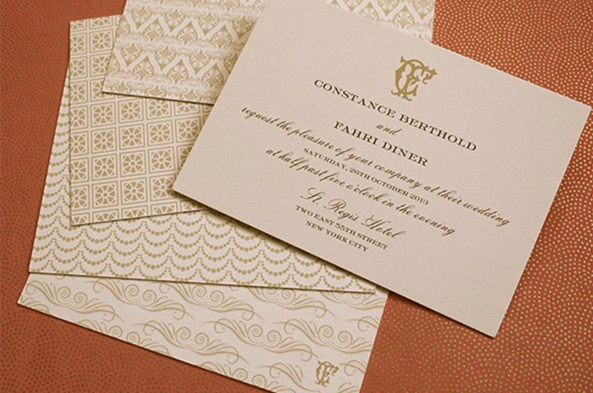 Here you see the motifs, fonts and styles that are carefully coordinated with each evening's custom designed menus.