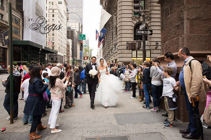 The tourists on 5th Avenue love getting a peek at the beautiful couple.