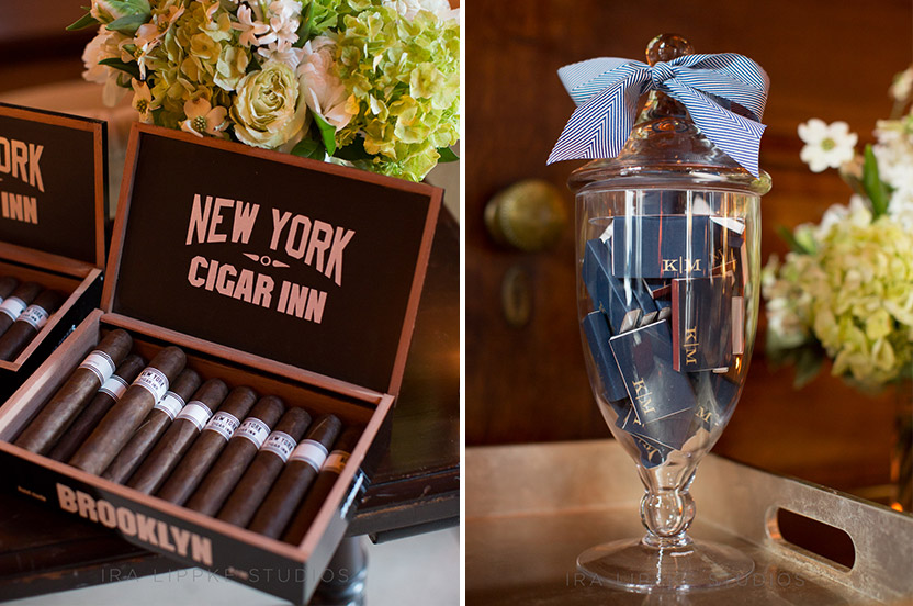 We offered the gentlemen cigars and matches that were enjoyed on the terrace – one of the luxuries of outdoor space in NYC.