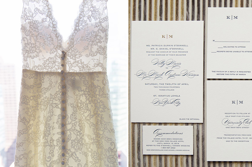 Pragmatic, kind, whip-smart and beautiful, this image reminds me that Kelly is beautiful inside and out.  And oh yes, it's a stunning dress.  Kelly's stationery suite is from the Wedding Library Collection, letterpress printed with a gold foil monogram.