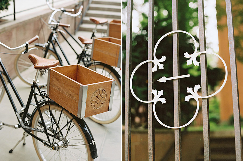The Highline Hotel's retro-chic vibe is carried through to their guest bicycles. In order that no guest lost their way we created these subtle, hand cut directional signs.