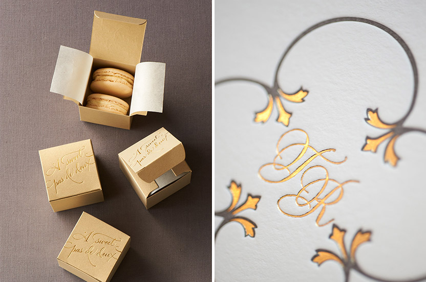 Perfect little sweets were in abundance.  We could resist a ballet double entendre.  The delicate motif with its gold foil accents.