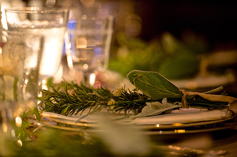 The delicately layered and textured place settings were particularly wonderful to construct.