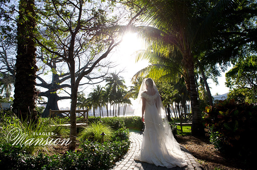 The Flagler's extended property includes the Chapel, the gardens and the waterway – making for varied and exquisite backdrops for photos.